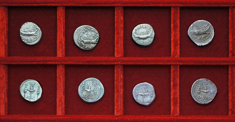 RRC 544-25-32-33-35 LEG XI, LEG XVII, LEG XVIII, LEG IX Antony legions, Ahala collection Roman Republic