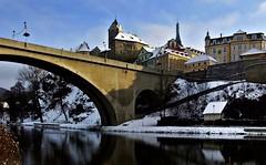 Blick auf die Burg und der Altstadt von Loket/Tschechien