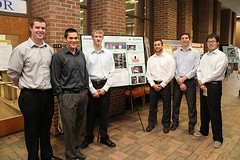 Material Sample Prep System Team with poster