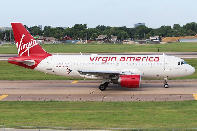 N524VA Virgin America A319-112 KDAL