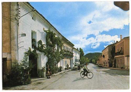 Cañete (Cuenca) [Material gráfico] : carretera general Cuenca-Teruel= Route générale Cuenca-Teruel= Highway Cuenca-Teruel.