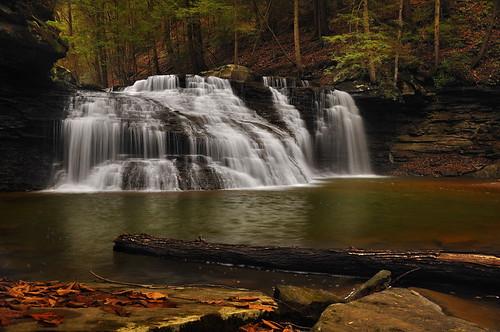 longexposure autumn fall nature waterfall nikon pennsylvania circularpolarizer ndfilter emlenton nikond90 freedomfalls