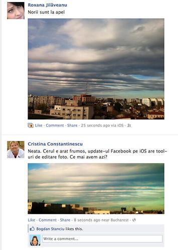 Toata lumea priveste cerul...:)