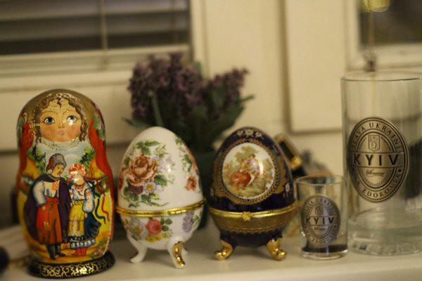 babooshka dolls, faberge eggs, kiev