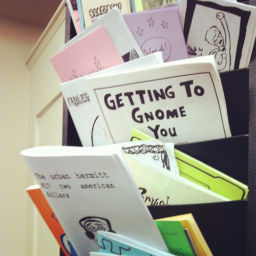 Zines at the library.