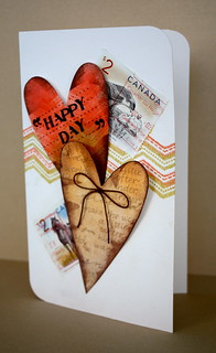 Recycled stamps card