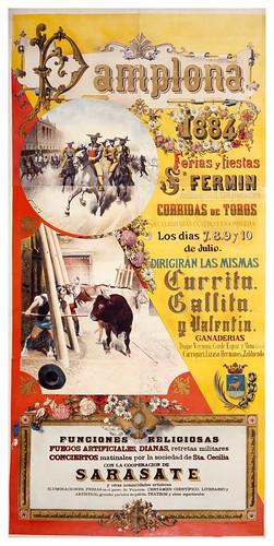 011-Fiestas de San Fermin-1884-Copyright Biblioteca Nacional de España