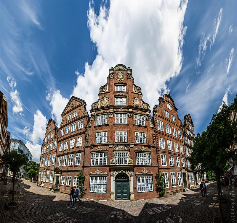 Old houses in Hamburg
