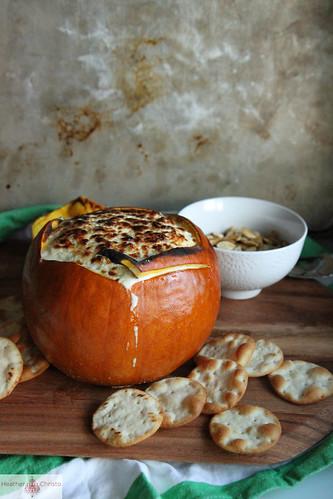 Cheesy Artichoke Pumpkin Dip