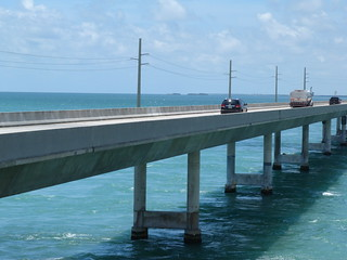 Imagen de la carretera de los Cayos de Florida