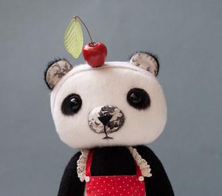 Panda girl - close