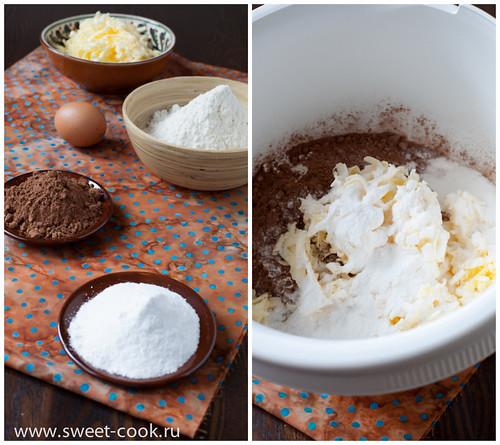 шоколадное песочное тесто