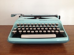Vintage typewriter Streamliner by Remington by vintage19_something