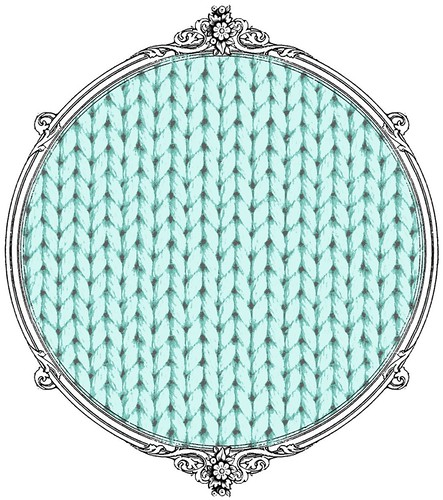 light turquoise knitting paper SAMPLE