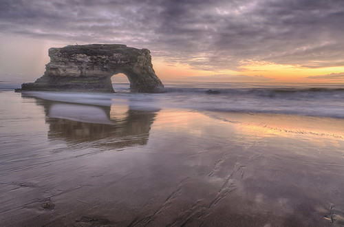 california sunset santacruz storm reflection beach nature clouds waves pacific naturalbridge wonders naturalbridgesstatebeach