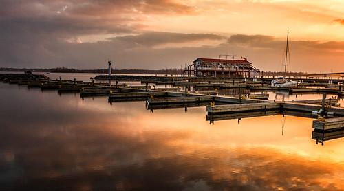 sunset water clouds marina landscape boat belleville quinte bayofquinte meyerspier
