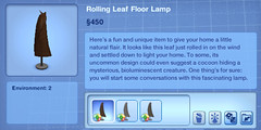 Rolling Leaf Floor Lamp