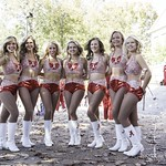 Crimsonettes Pose For The Crowd At Elephant Stomp