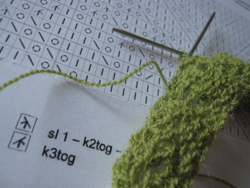 chart knitting lace weight