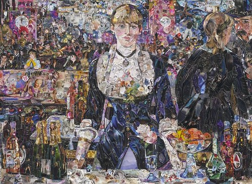 Vik Muniz, A Bar at the Folies-Bergere, after Edouard Manet, 2012,