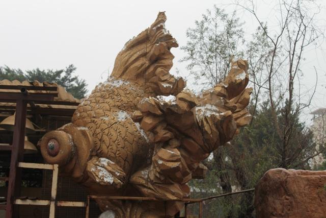 Sculptuur van een Demkin