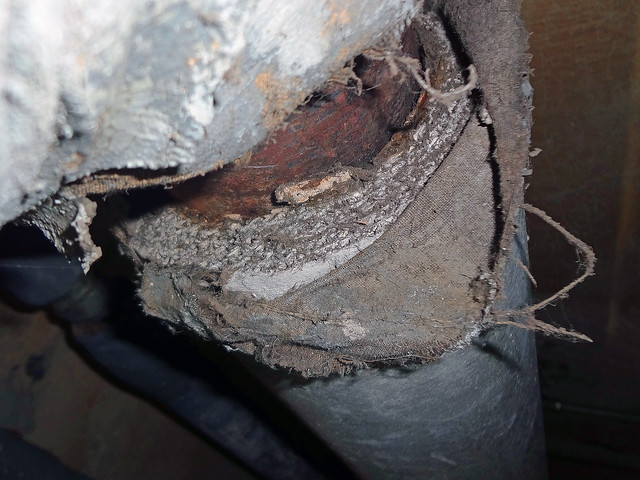 Exposed Aircell Asbestos Pipe Insulation Flickr Photo