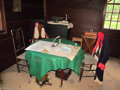 The general's quarters in the Wick House, Jockey Hollow, Morristown National Historical Park, New Jersey