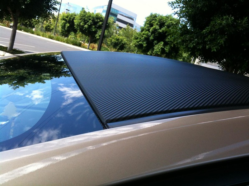 Carbon Fiber Car Mobile Garage : Carbon fiber vinyl mobile bumper and paint