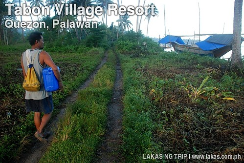 Path out to the National Highway from Tabon Village Resort in Quezon, Palawan