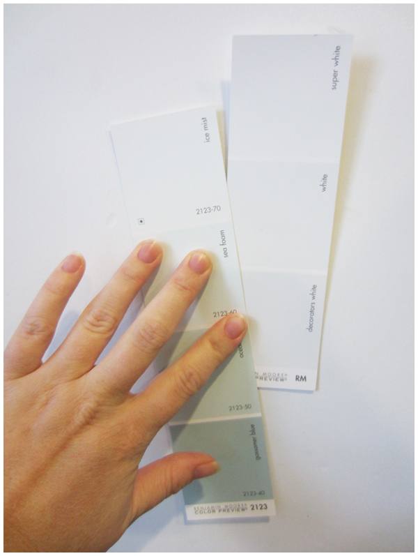 Picking a white paint color