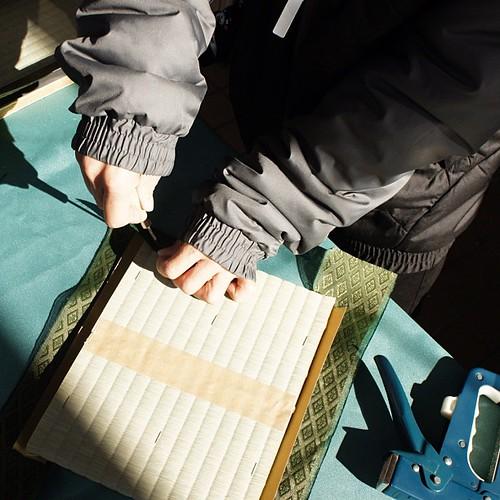 竹内畳店さんのブース。畳作り体験をさせてもらいました