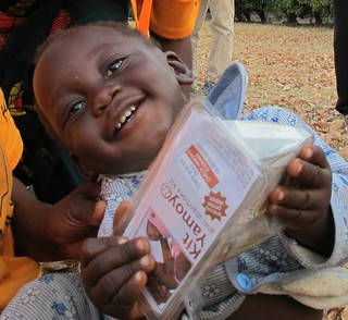 Simon (aged 1) with a Kit Yamoyo - square