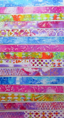 Washi Tape Gel Prints by Gennie59
