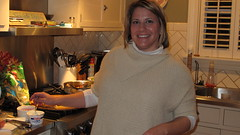 "Sarah Smiley in her kitchen preparing a ""Dinner with the Smileys"""