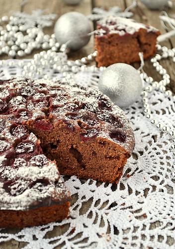 пряничный пирог с вишней.11