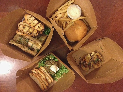Marlowe take-out via OrderAhead App