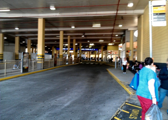 Southland bus terminal, Sunday afternoon - not a bus in sight