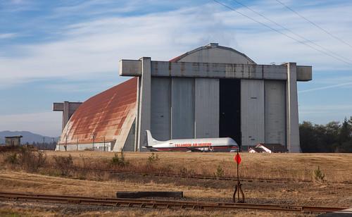 128 Large hangars would hold blimps at Tillamook Air base during WWII