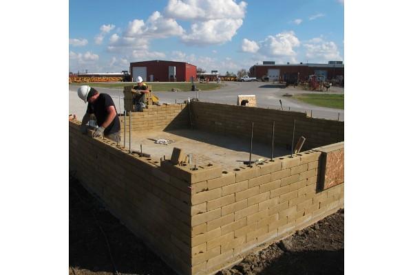 Vermeer Compressed Earth Block Machine : Compressed earth block building at vermeer by dwell
