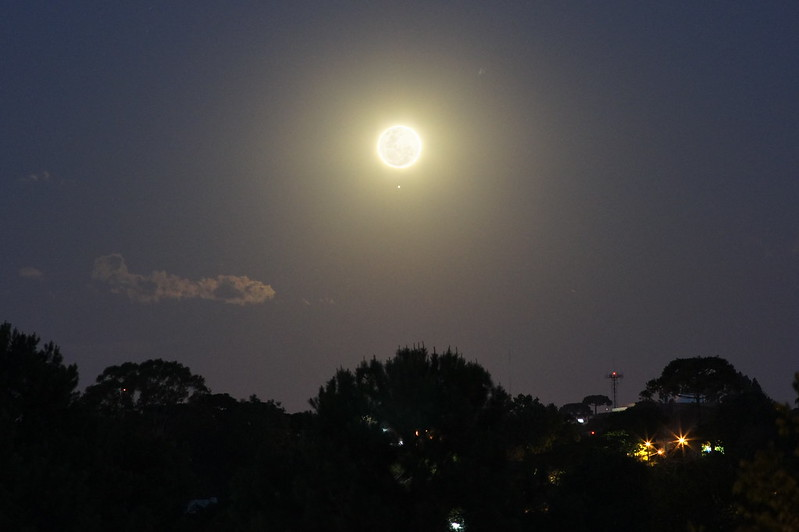 Lua e Júpiter - pré ocultação de 2012-11-28