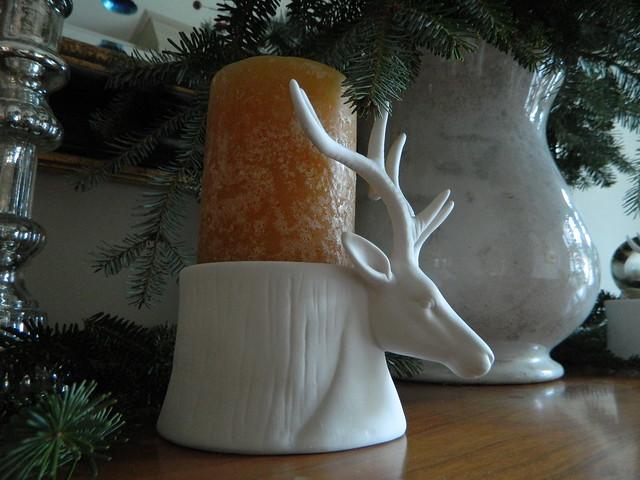 bisque deer candlestick via homeologymodernvintage.com