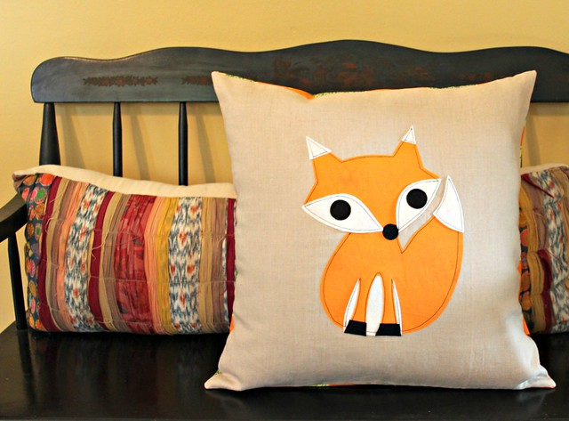 Linen Fox Pillow