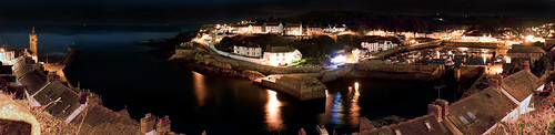 Porthleven @ Night Panorama by SAR1N