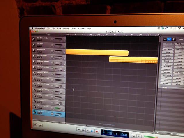 19.18: Still working on that package! Now stitching together a playlist in Garageband.
