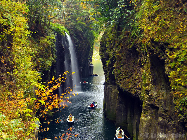 秋色の高千穂峡 (Autumn Colored Takachiho Gorge)