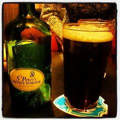 whisky(0.0), lager(0.0), cuba libre(0.0), ale(1.0), stout(1.0), pint glass(1.0), distilled beverage(1.0), liqueur(1.0), bottle(1.0), beer bottle(1.0), beer cocktail(1.0), drink(1.0), pint (us)(1.0), beer(1.0), alcoholic beverage(1.0),