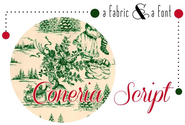Coneria Script + Santa Toile