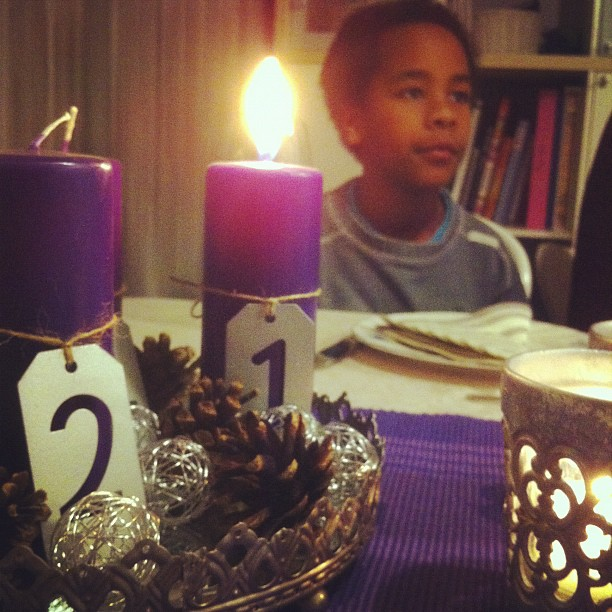 Celebrating a birthday tonight :) and it's almost the first Sunday of advent!