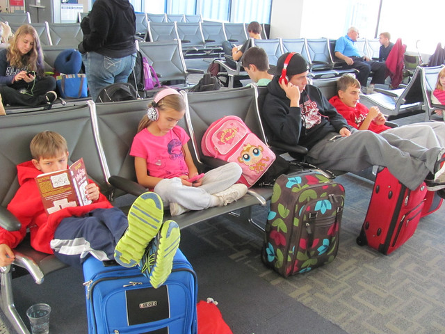 Leaving for Cancun - Detroit Airport