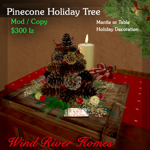 Pinecone Tabletop Tree by Teal Freenote